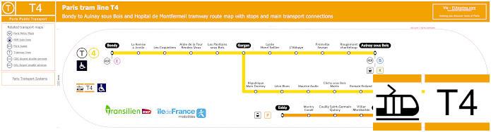 Map Of Paris Tram Line T4