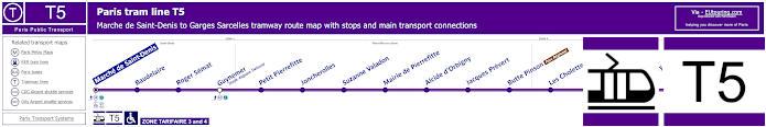Map Of Paris Tram Line T5