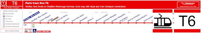Map Of Paris Tram Line T6
