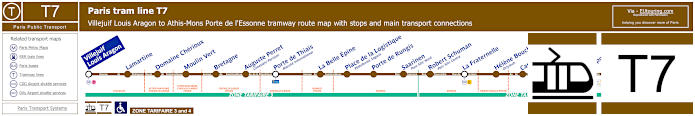 Map Of Paris Tram Line T7