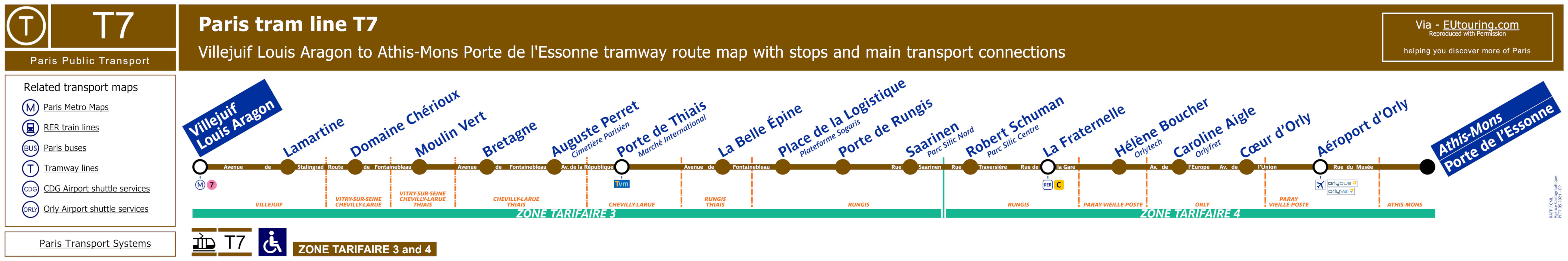 Paris Tram Maps And Timetables For Sncf And Rapt City Tramways 2020