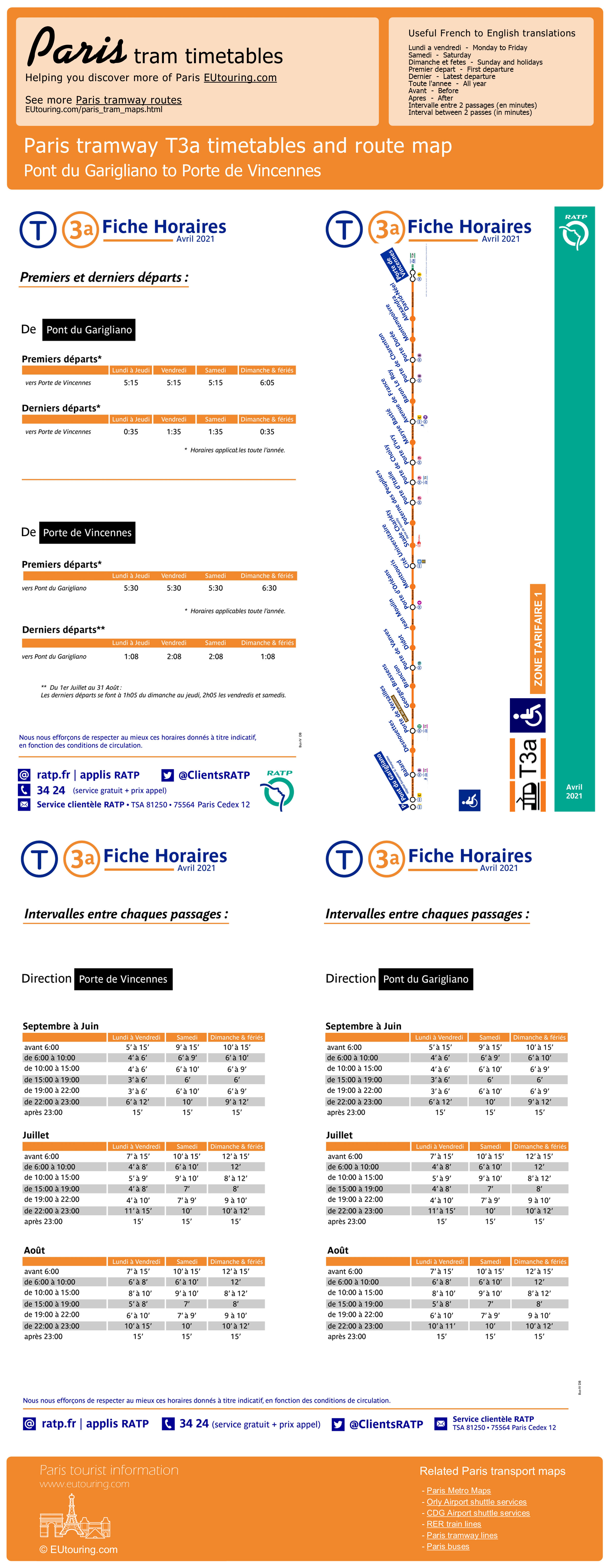 Paris Tram Maps And Timetables For Sncf And Rapt City