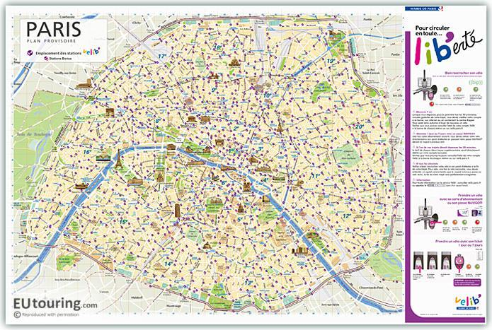 Paris Velib Stations Map