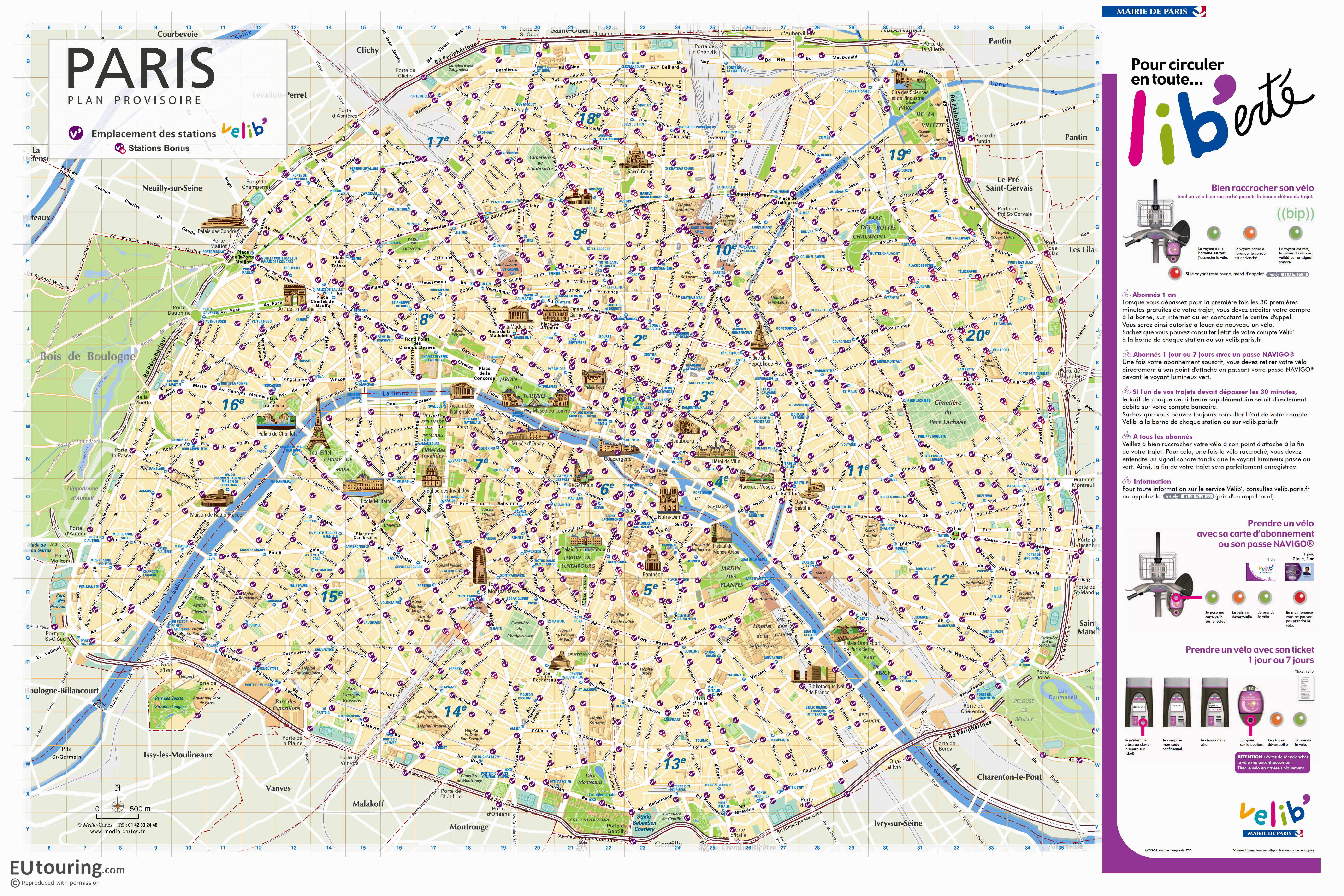 Paris Velib Station Maps In Pdf And Image File Formats