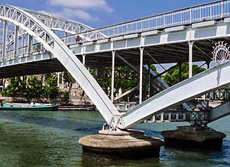 Passerelle Debilly Bridge Frame Work