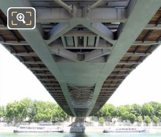 Underneath Side Of Passerelle Simone De Beauvoir