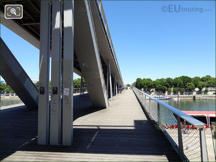 Steel Support On Passerelle Simone De Beauvoir