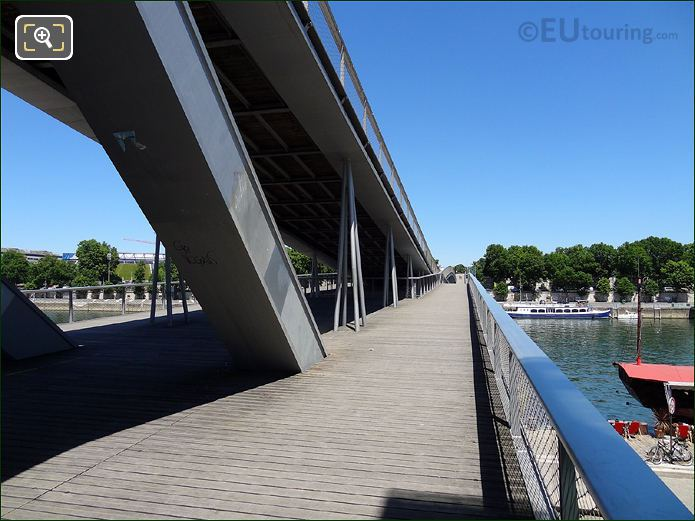 Simone De Beauvoir Bridge Towards Parc De Bercy