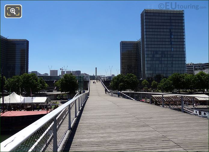 Passerelle Simone De Beauvoir Central Walkway