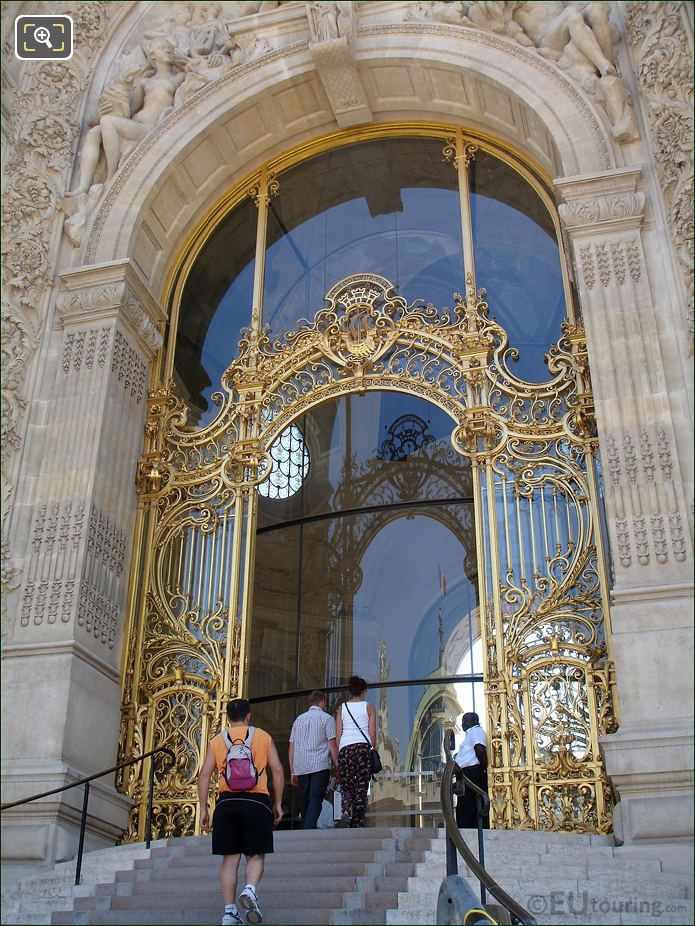 Petit Palais Wrought Iron Gilded Entrance Gate