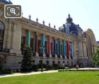 Petit Palais Columns Decorated Different Colours