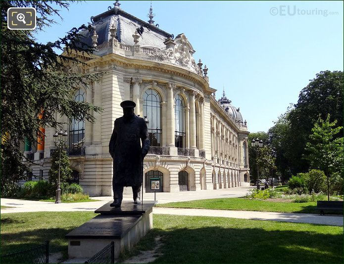 Winston Churchill Statue At The Petit Palais