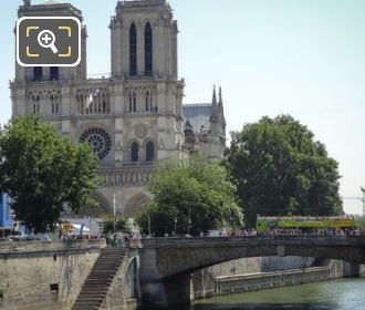 Petit Pont With Notre Dame Cathedral