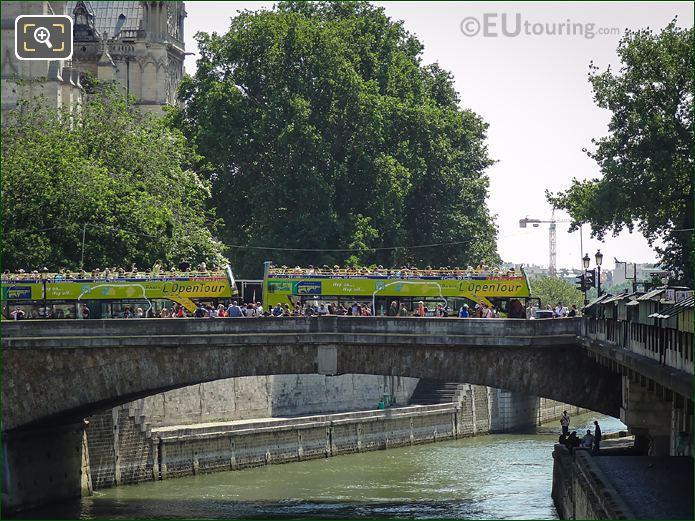 Tourist On The Petit Pont In Paris