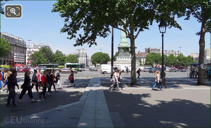 Tourists At Place De La Bastille