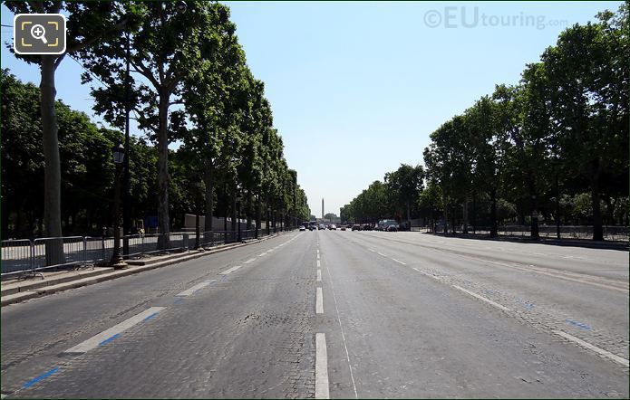 Champs Elysees Avenue And Place De La Concorde