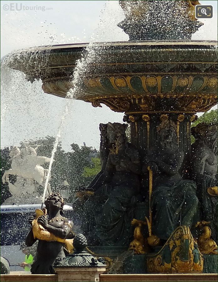 Water Fountain At Place De La Concorde
