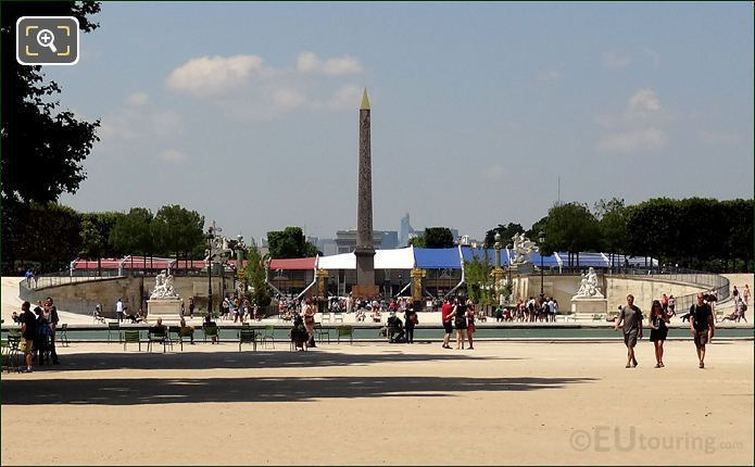 Place De La Concorde With Its Luxor Obelisk
