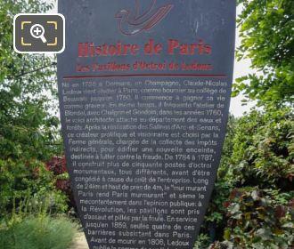 Tourist Infor Les Pavillons d'Octroi De Ledoux