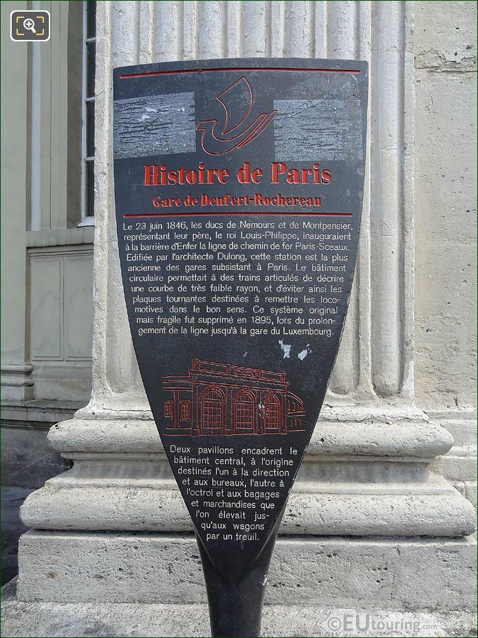 Tourist Information Board Gare Denfert-Rochereau