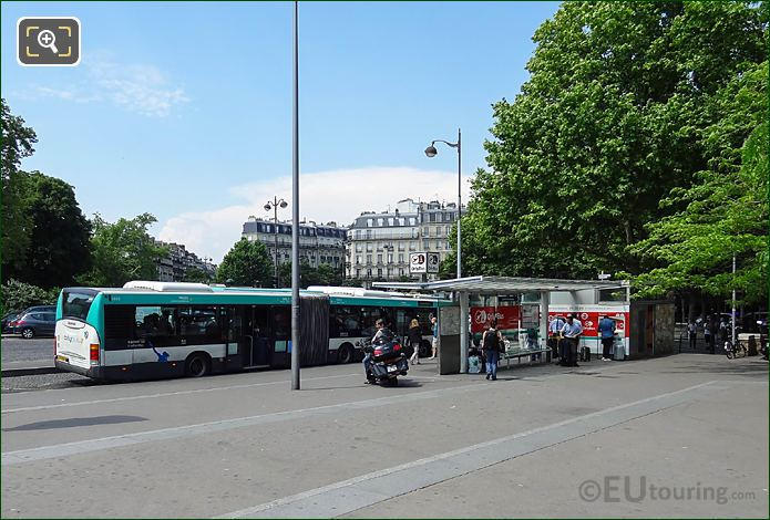 Orly Airport Bus At Stop Place Denfert-Rochereau