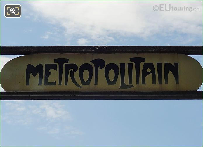 Metropolitain Sign Denfert-Rochereau Metro Stop