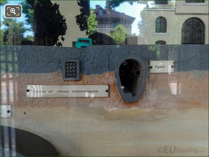 Model Of Sewer Tunnel, Telephone Cables Under Paris