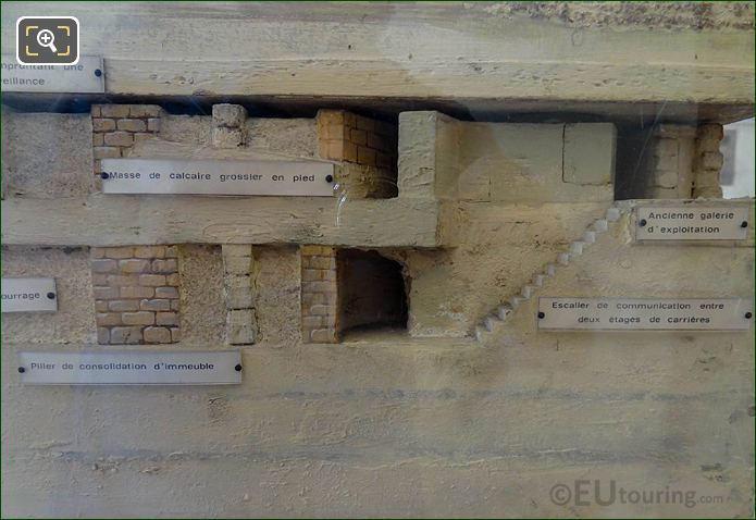 Model Of Paris City Underground Consolidation Pillars