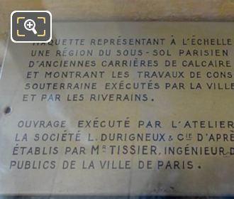 Tourist Information Plaque Scale Models Paris City