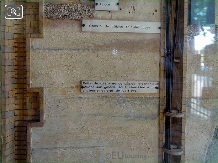 Scale Model Telephone Cables Under Paris City