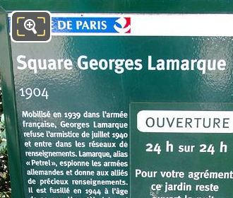 Tourist Information Board Square Georges Lamarque