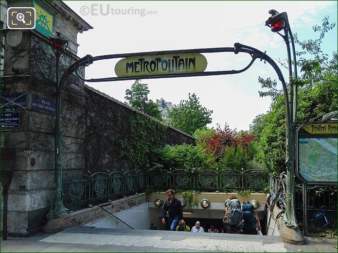 Denfert-Rochereau Metro Stop Avenue Du Colonel Henri Rol-Tanguy
