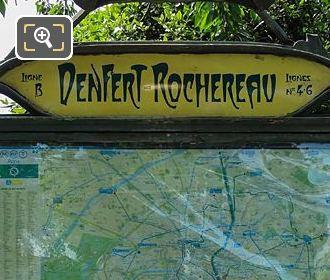 Denfert-Rochereau Metro Map Avenue Du Colonel Henri Rol-Tanguy