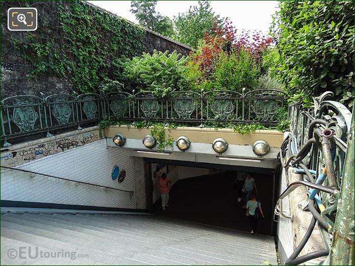 Steps Down To Denfert-Rochereau Metro Station