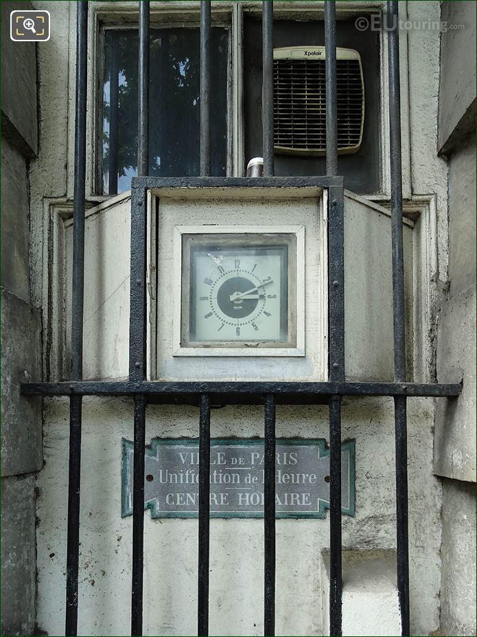 Clock And Plaque On West Barriere d'Enfer Building
