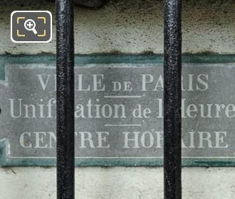 City Of Paris Unification Plaque On West Barriere d'Enfer