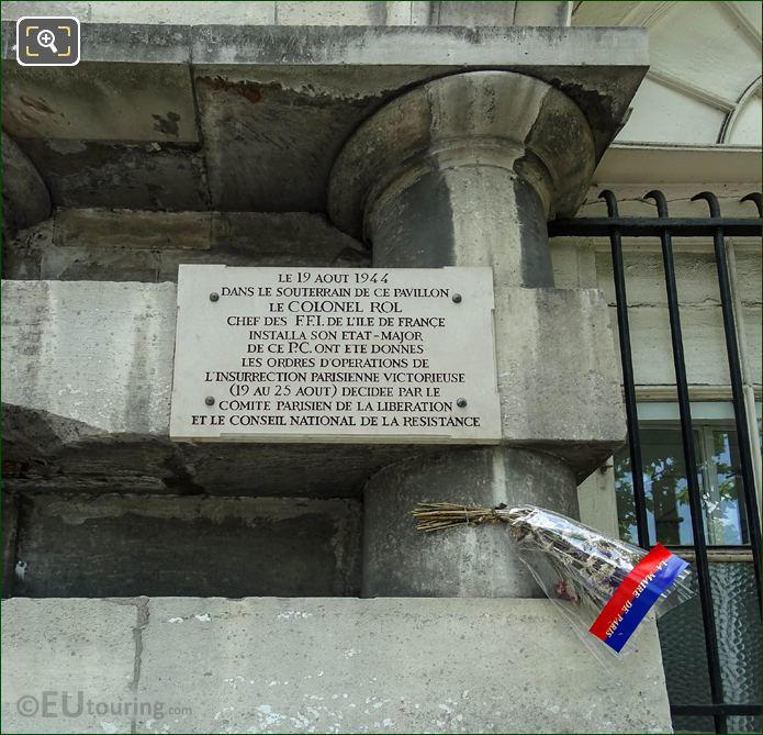 Colonel Rol Memorial Plaque West Barriere d'Enfer Building