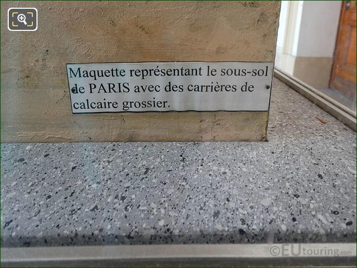 Info Plaque Model Of Paris City Quarries