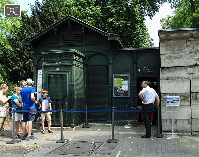 Green Ticket Booth Paris Catacombes