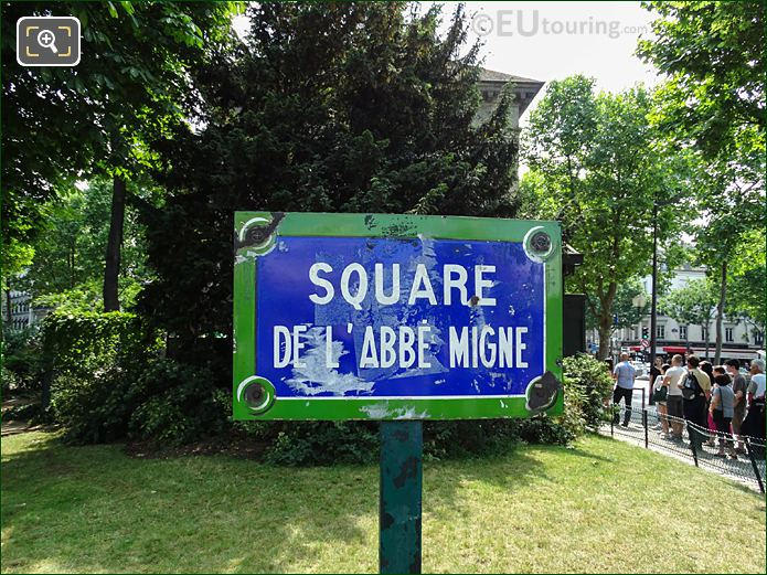 West Side Sign Square De l'Abbe Migne