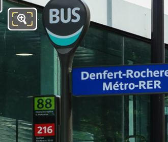 Gare Denfert-Rochereau Bus Stop 88 And 216
