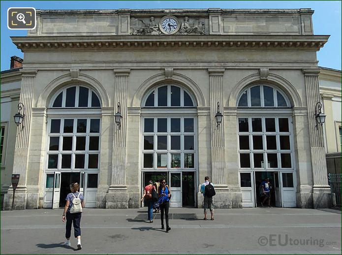 Front Entrance Gare Denfert-Rochereau Train Station Paris