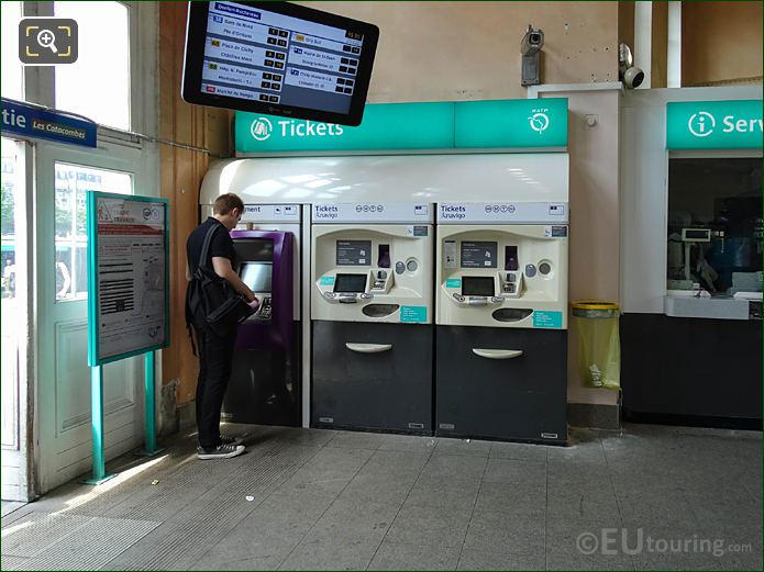 Automatic Ticket Machines Gare Denfert-Rochereau