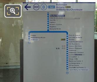Info Board RER B Line In Gare Denfert-Rochereau