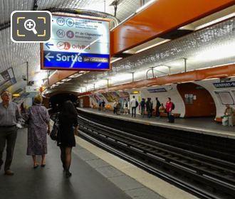 Metro Station Platform Gare Denfert-Rochereau