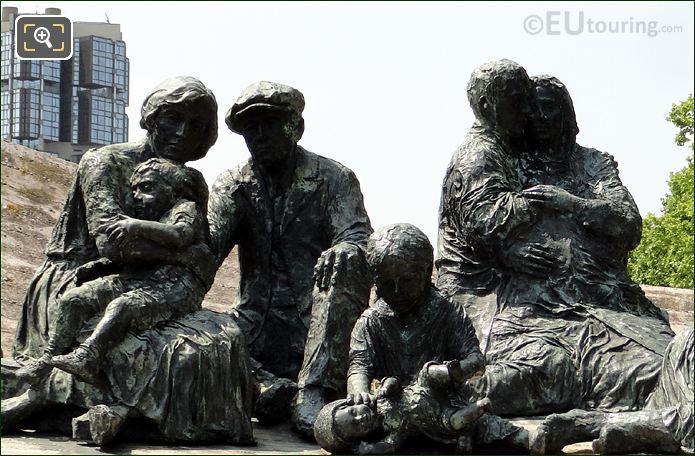 Bronze Statues At Place des Martyrs Juifs du Velodrome D'Hiver