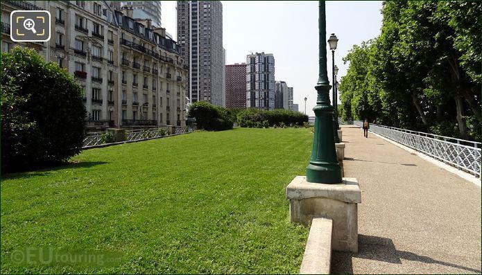 Grass Area Within Place des Martyrs Juifs du Velodrome D'Hiver