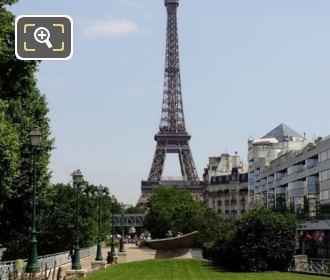 Eiffel Tower From Place des Martyrs Juifs du Velodrome D'Hiver