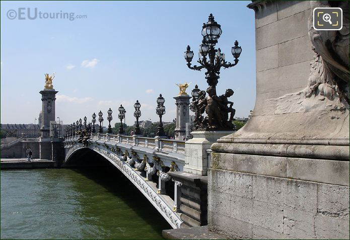 Side View Of Pont Alexandre III