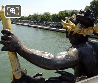 Copper Statue On The Pont Alexandre III